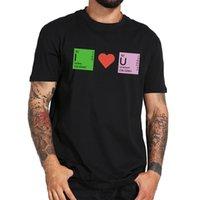 ingrosso magliette espresse-Toppa nerd romantica di taglia EU I Love You T-shirt fitness morbida di alta qualità 100% cotone