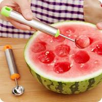 meyve kazma topu toptan satış-Mutfak Gadget Yaratıcı Dondurma Kazmak Topu Scoop Kaşık Çocuk Kaşık DIY Çeşitli Soğuk Yemekleri Aracı Karpuz Kavun Meyve Kaşığı
