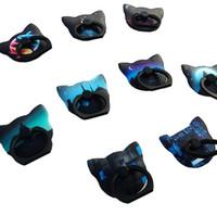 Wholesale glow dark phones online – new Glow in Dark Luminous Mobile Phone Ring Holder Finger Ring Bracket Buckle Metal Degree Stand Car Holders For All Cellphone Tablet