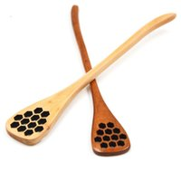 Wholesale wood carving accessories for sale - Group buy Cute Wood Creative Carving Honey Stirring Honey Spoons Honeycomb Carved Honey Dipper Kitchen Tool Flatware Accessory LX8177