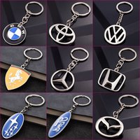 Wholesale car ferrari for sale - 3D Metal Auto Car Logo Keychain Key Holder Creative Mini Key Ring Auto Car Key Chain Keyring For Mercedes Benz BMW Toyota Ferrari Volkswagen