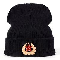 nuevos abucheos de beanie al por mayor-2018 nuevo sombrero de invierno marca rusa del emblema nacional de punto Beanie sombreros para los hombres Las mujeres Skullies bordado acrílico Cap Boo Gorros