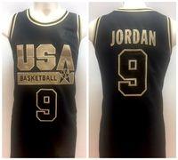 ingrosso 1992 basket usa maglie-# 9 Michael MJ 1992 Olympic USA Dream Team Maglia da basket retrò Mens cucita su misura Qualsiasi numero Nome maglie