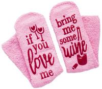 Wholesale beer socks resale online - Cake Socks Letter Printed IF YOU CAN READ THIS Bring Me a Glass of Wine Beer Socks Winter Sock Christmas Stocking GGA2673