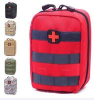 ingrosso il sacchetto pack pack campeggio esterno-Sacchetto vuoto per kit di emergenza Kit di pronto soccorso medico tattico Marsupio Campeggio esterno Escursionismo Viaggio Tactical Molle Pouch Mini più recente A NO1
