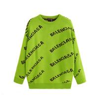 suéter negro botones de oro al por mayor-2019 Nueva moda otoño / invierno ropa de hombre y mujer 108 sudadera de hip-hop de cuello redondo de manga larga ropa de abrigo ropa casual suéter s-2xl