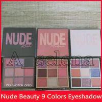 kaliteli marka makyajı toptan satış-En Yeni Marka 9 Renkler Shimmer Eyeshadow 3 Stiller Zengin Işık Orta ve yüksek kalitede DHL ücretsiz gönderim Eyeshadow Makyaj
