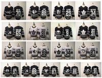 sidney jersey al por mayor-2019 All Star Game NHL Jersey Karlsson Sidney Crosby Jack Eichel Connor McDavid John Tavares Marc-Andre Fleury Patrick Kane Matthews Hockey