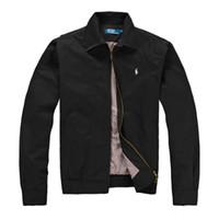 erkekler spor rahat moda ceket toptan satış-Moda Yeni Erkekler Ceket Bahar Sonbahar Güz Rahat Spor Giyim Giyim Rüzgarlık Kapüşonlu Fermuar Up Mont