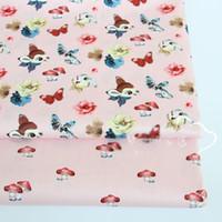 новые текстильные листы оптовых-New Cartoon Cat  cotton cloth fabric DIY sewing crib bedding textile baby dress cushion sheet apparel quilting handwork decor