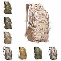 Wholesale fabric male clothes online - Camouflage Tactical Backpack Colors Male Military Camo Multifunctionl Army Bag Waterproof Oxford Travel Sports Storage Bags OOA6164