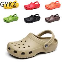 eva garden clogs оптовых-Slip On Casual Garden Clogs Водонепроницаемая обувь для женщин Классические сабо для кормления Больница Женщины Работа Сандалии