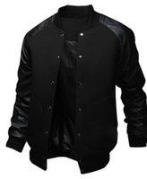 casaco de beisebol homens venda por atacado-ZOGAA 2019 NOVO Jaqueta de Bolso Grande dos homens Magro Hip Hop Jaqueta De Beisebol Designer de Longo-luva Cor Pura Jaqueta Blusão Homens