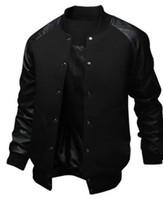 büyük erkekler rüzgarlıkları toptan satış-ZOGAA 2019 YENI erkek Ceket Büyük Cep Ince Hip Hop Beyzbol Ceket Tasarımcısı Uzun kollu Saf Renk Erkek Rüzgarlık ceketler