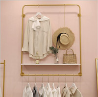 Wholesale metal modern wall hangings for sale - Group buy Clothing store wall hanger display rack Scandinavian women s clothing store wall hanging clothes creative clothes and hats rack