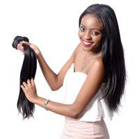 ingrosso prezzo dei capelli vietnamiti-Parrucche europee e americane, capelli umani Straight Wave, strisce dritte di colore naturale