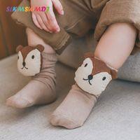 Wholesale baby dolls cartoon for sale - Group buy SLKMSWMDJ Pairs New Spring Autumn Children s Socks Cartoon Doll Head Boys Girls Baby Socks Newborn Cotton One Size