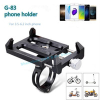 зажим велосипед руль оптовых-Gub G-83 противоскользящая универсальный велосипед 3.5-6.2 дюймов телефон держатель кронштейн для смарт-мобильный телефон руль клип стенд
