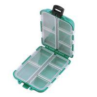 хранение рыболовных снастей оптовых-Fishing Lure box ABS Plastic green 10 Compartments Storage Case Box  Spoon fishing Hook Bait Tackle