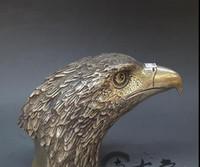 águila de latón antiguo al por mayor-Antiguo especial de cobre Cobre Latón plateado plata la cabeza de Eagle decoración de la decoración del hogar hace el regalo de cobre Antigüedades Colecciones