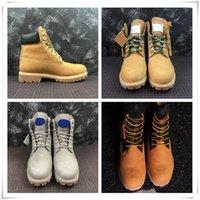 ingrosso stivali mens khaki-Sneakers firmate Stivali di lusso più recenti Martin Boot Triple Grey Light Tan Khaki per uomo Donna Designer Castagna militare