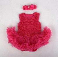 bebek bebek kırmızı toptan satış-Bir Takım Elbise için Gül Kırmızı Etek 20 '' - 22 '' Bebek Giysileri Reborn Bebek Tutu Giyim Elbise Bebek Elbiseleri Yenidoğan Elbise