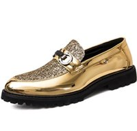 sapatas de vestido do salto alto dos homens venda por atacado-Sapatos de marca de alta qualidade barato, lantejoulas sapatos casuais, rebite grosso sapatos casuais, designer de marca italiana mens sapatos G5.56