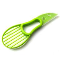 separador de frutas al por mayor-3-en-1 aguacate máquina de cortar de la fruta del cortador cuchillo corer Pulp separador de manteca de karité cuchillo de cocina Ayudante de cocina Accesorios Gadgets Herramientas RRA2832-9