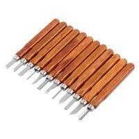 Wholesale carved knife wood for sale - 12pcs set Carving Tools Carving Knife Wood Woodcut Cutter Knife Set DIY Model Woodworking Tools Multi Functional Knife Top Quali