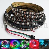 led bande individuelle achat en gros de-Bande de lumière de bande flexible de pixel de 5V WS2812B IC 5050 RGB LED