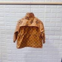 mädchen größe kinder kleidung groihandel-Kinder Designer Jacken Luxus Muster Mantel Britischen Stil Jungen Windjacke Marke Mädchen Kapuzenjacke Kinderkleidung 2 Stil Größe 100-160
