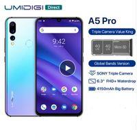 quad core phone fhd venda por atacado-UMIDIGI A5 PRO 4G Smartphone 6.3 polegada FHD + Android 9.0 Celular 4 GB de RAM 32 GB ROM 16.0MP + 8.0MP + 5.0MP Câmera Traseira Do Telefone Móvel