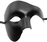 máscaras faciales de ópera fantasma al por mayor-Máscara venetion para el partido de la media cara fantasma de la ópera Máscara de mascarada del carnaval para los hombres