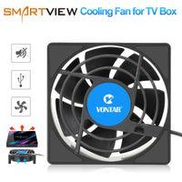 Wholesale quad core usb resale online - C1 Cooling Fan for Android TV Box Set Top Box Wireless Silent Quiet Cooler DC V USB Power mm Radiator Mini Fan