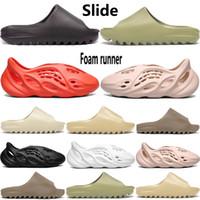 Wholesale New foam runner kanye west mens slipper sandal shoes resin bone triple black white desert sand Earth Brown men women stylist sandals