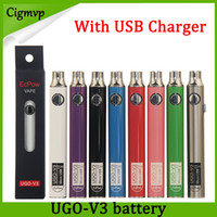Wholesale ego v vape resale online - Authentic Evod UGO V mAh mAh Ego Battery colors Micro USB Charge Passthrough E cig O Pen Vape Batterry