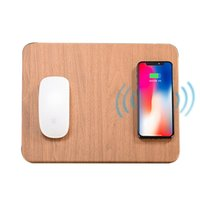 Wholesale mouse mousepad resale online - 10W Fast Wireless Charging Charger Mouse Pad Mat for iPhone X XS Max XR Leather Induction Charger Mousepad for Samsung S8 S9