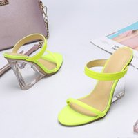 Wholesale sexy hot wedges shoes for sale - Group buy Hot Sales Quality Euramerican Ladies sexy fashion Shoes Summer transparent wedge heel Pointed toe Sandals high heels Narrow strap size35