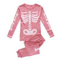 Wholesale girls sleepwear sets resale online - Halloween kids pajamas girls sleepwear kids designer clothes girls pyjamas girl designer clothes kids underwear A8090