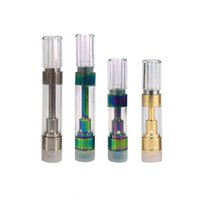 boquillas de vaporizador mod al por mayor-Astilla / Dorado / Color del arco iris M6T G5 Cartucho de cerámica 510 tanque .5ml 1ml Vaporizador de aceite grueso con boquilla de presión Fit M3 batería Mod de palma