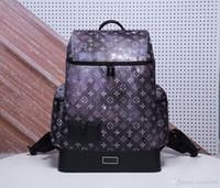 mochilas de galaxias de mujer al por mayor-Monogrram Galaxy Canvas Alpha unisex mochila hombre bolsas de viaje mujer mochila bolso de viaje de cuero de vaca Mochila de hombro M44174