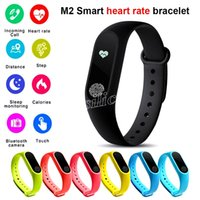 Wholesale m2 smart bracelet for sale – best Colorful Retail M2 Smart Bracelet Smart Watch Monitoring Bluetooth IP67 Waterproof Health Fitness Band for Android iOS activity tracker