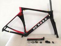 bicicleta de fibra de carbono preta fosca venda por atacado-Preto Vermelho De Rosa SK Pininfarina Rosso Fuoco quadros de carbono bicicleta de fibra de carbono ciclismo bicicleta bicicletas quadro di2 A01