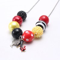 Wholesale new shose for sale - Group buy New Arrivel Cartoon Shose Kid Chunky Necklace Beaded Chain Girls Bubblegum Beads Charm Pendant Chunky Necklace Jewelry For Children