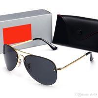 Wholesale ray band sun glasses resale online - 63MM Glass Lens Hot Sale rays style Aviator bans Sunglasses Vintage Pilot Brand Sun Glasses Band UV400 Men Women Ben Mirror Glass