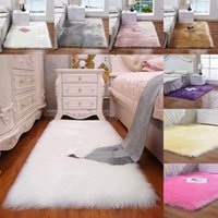 alfombras de dormitorio mullidas al por mayor-La imitación de lana mullida alfombra de la sala dormitorio manta de la piel lavable del asiento del cojín mullido Alfombras 40 50 * 40cm * 50cm manta suave