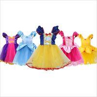 фартуки платья оптовых-Девушки принцесса фартук платье костюм партии одеваются косплей наряд рождество платье для новорожденных девочек пачка фартук хеллоуин костюм DHL FJ335