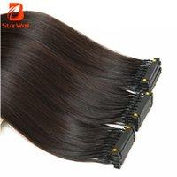 saç uzatmalarını boyama toptan satış-6D Saç Uzantıları 10A 28 İnç Boyanabilir ve Yeniden Kullanımı Kolay Görünür Eklem Sağlıklı ve Konforlu Kurulumu Kolay Kullanılabilir