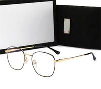 gafas de sol azules para las mujeres al por mayor-Marca para hombre mujer miope Glasses Adumbral Gafas de sol para hombre para mujer normal Anti-azul claro vidrio de alta calidad con la caja de lujo