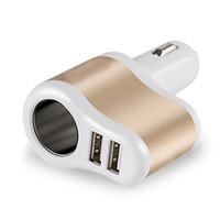 Wholesale 12 volt socket adapter resale online - 1pc DC V Automatic Car Cigarette Lighter Dual USB Power Socket Charger Adapter Great